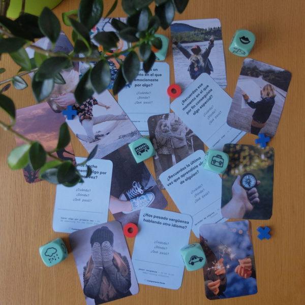 Material didáctico en forma de tarjetas para fomentar la creatividad en la clase de ELE
