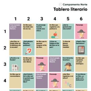 Tablero literario para el aula de idiomas
