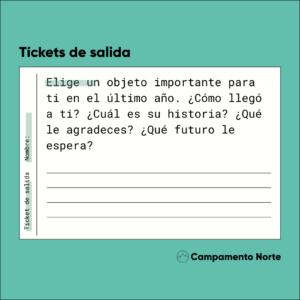 Ticket de salida: material para la clase de idiomas